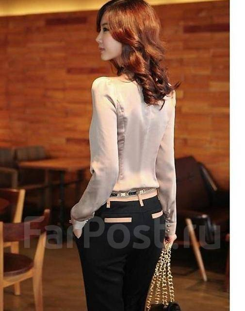 8592640e629 Шикарная Атласная блузка с бантом КореяРасспрадажа - Основная одежда ...