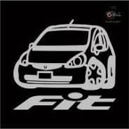 Наклейка Honda FIT c фирменной надписью