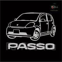 Наклейка. Toyota Passo