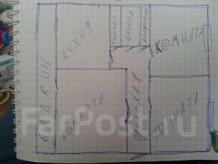 3-комнатная, улица Днепровская 34. Столетие, частное лицо, 68кв.м. План квартиры