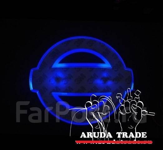 Подсветка под эмблему Nissan (Ниссан) Синий (Отправка по РФ)