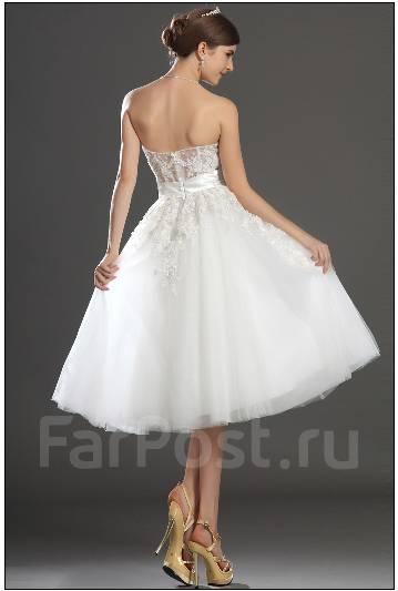 b501ffcfb67 EDressit Прекрасное свадебное платье без бретелек короткое пышное ...