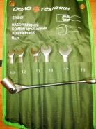 516062 Набор ключей комбинированных шарнирных-6шт. (10,11,13,14,17,19) брезентовая сумка