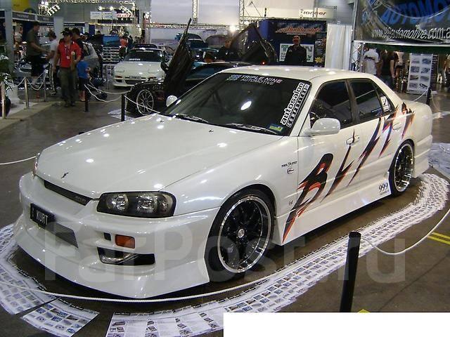 Обвес кузова аэродинамический. Nissan Skyline, HR34, BNR34, ER34, ENR34
