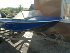 Лодка Ока 4 с двигателем Tohatsu 50. 1990 год, двигатель подвесной