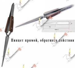 Пинцет Proskit 1PK-118T. Обратного действия, прямой, с деревянными накладками.