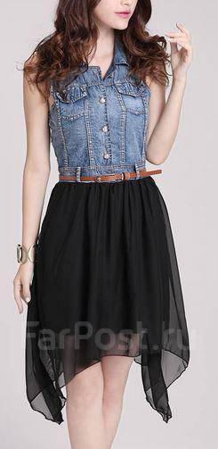 Платья из джинса и шифона
