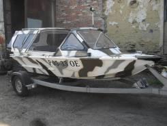 """Алюминиевый водометный катер """"Томь-455"""", водомет. 2011 год, двигатель стационарный, бензин"""