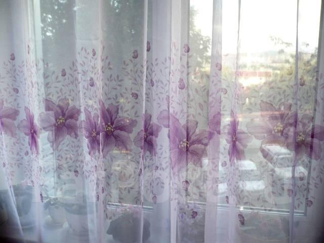 Тюль фото с цветами