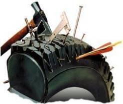 Заполнение пневматических шин на спецтехнике полимером
