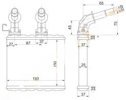 Радиатор отопителя. Nissan Cefiro, A32 Nissan Maxima, A32