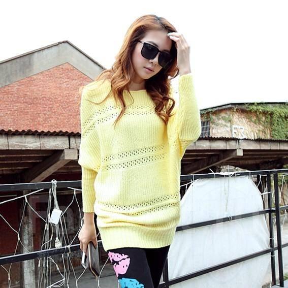 Распродажа! Классная вязанная желтая туника- свитер. 40-44