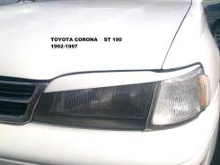 Накладка на фару. Toyota Corona, AT190, CT190, CT195, ST190, ST191, ST195 Toyota Caldina Двигатели: 2C, 2CIII, 3SFE, 4AFE, 4SFE. Под заказ