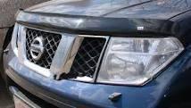 Дефлектор капота. Nissan Navara Nissan Pathfinder, R51 Двигатели: YD25DDTI, VQ40DE, V9X