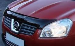 Дефлектор капота. Nissan Qashqai, J10, J10E Двигатели: HR16DE, MR20DE