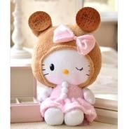 Мягкая игрушка Hello Kitty в костюме мышки и в юбке