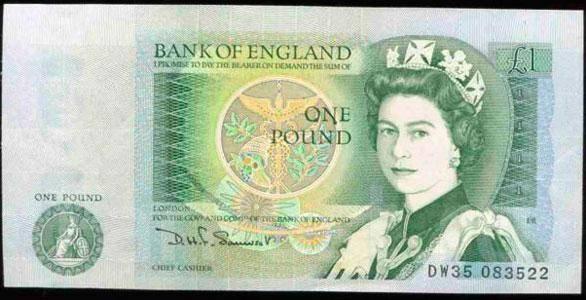 Как выглядит один фунт стерлингов монета в 10 копеек