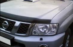 Дефлектор капота. Nissan Patrol, Y61, Y62 Двигатели: VK56VD, ZD30DDTI, TB48DE