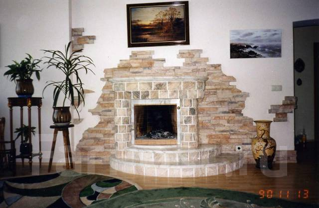 Камин, печь-камин, тандыр, барбекю, садовая кухня
