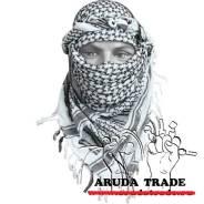 Платок-Арафатка (Шемаг, шемах) черно-белый (плотный) Отправка по РФ