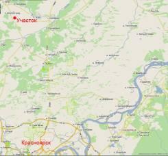 Участок 10,2 Га между с. Устюг и с. Талое - 45 км от Красноярска. 102 100кв.м., собственность