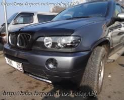 Фары линзовые, диодные, тюнинг, черные для BMW X5 c 2001 г. и выше