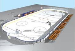 Хоккейные коробки от производителя, укладка спортивного линолеума