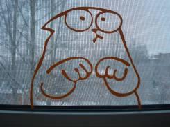 """Наклейка на стекло, зеркало итд """"Кот Саймона""""."""