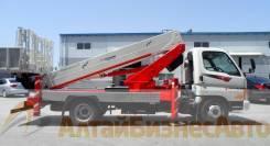Jinbo. Автовышка KWP280S (Ю. Корея) с рабочей высотой 27м на шасси HD78, 3 907куб. см., 27,00м.