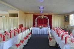 Банкеты, свадьбы (оформление зала), корпоративы, в Мотеле Негус