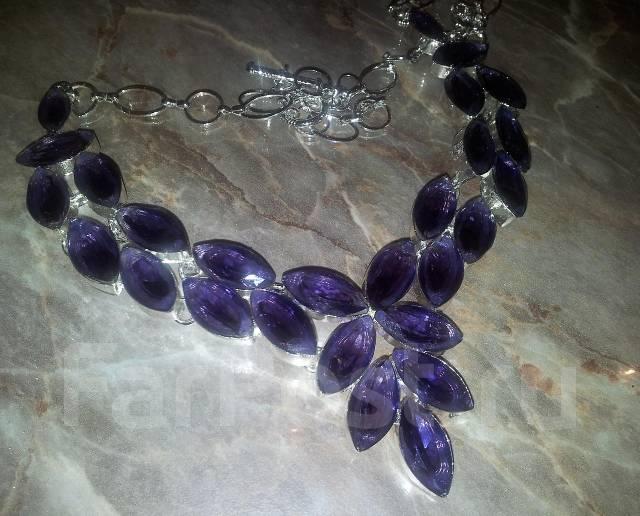 Шикарное аметистовое ожерелье на праздник под вечернее платье ... cb2422541ae10
