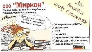 """ООО """"Миркон"""" Диссертации, дипломы, курсовые """"НА Заказ"""""""