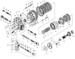 Ремкомплект гидронасоса, гидромотора handok. Linde Komatsu Mitsubishi Caterpillar Hitachi. Под заказ