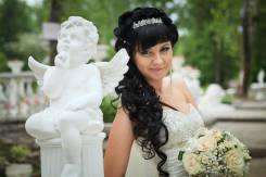 Свадебный макияж, прически, букет, оформление банкета досы