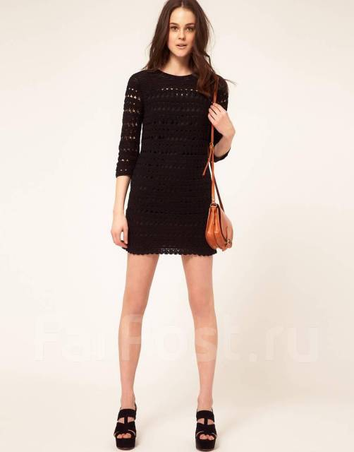 Маленькое черное платье трикотажное