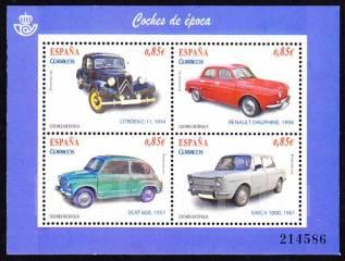 Испания 2012 Автомобили. Блок. Чистый