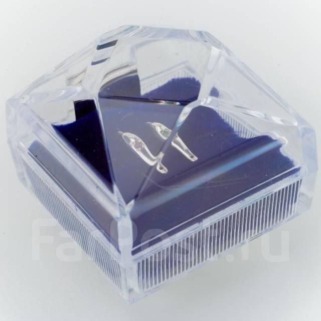 Подарочный набор Блёсен (Серебро + зелёный и гранатовый кристалл)!