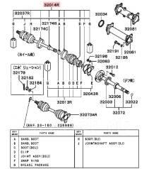Пыльник привода. Mitsubishi Pajero Evolution, V55W Mitsubishi Pajero, V63W, V73W, V65W, V75W, V78W, V55W, V77W, V68W