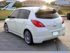 Спойлер. Nissan Tiida, C11 Двигатели: HR15DE, MR18DE