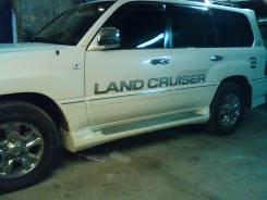 Накладка на порог. Toyota Land Cruiser Cygnus, UZJ100W, FZJ100, FZJ105, HDJ100, HDJ100L, HDJ101, HDJ101K, HZJ105, J100, UZJ100, UZJ100L Toyota Land Cr...
