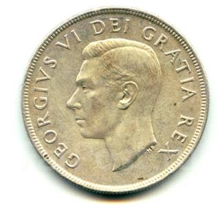 Канада доллар 1952 Georg VI - Вояджер Серебро