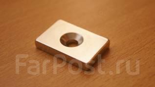 Неодимовый магнит - 30х20х5мм отверстие 5мм