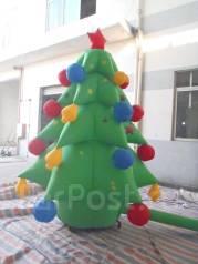 Ёлка, Дед мороз, Снегурочка - надувные фигуры праздничные. Акция длится до 31 декабря