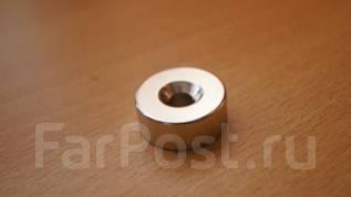 Неодимовый магнит - диск 25 х 10 мм отверстие 6мм