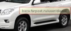 Порог пластиковый. Toyota Land Cruiser Prado