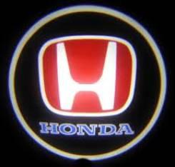 Лазерная проекция логотипа в двери авто Honda