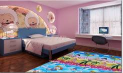 Детский яркий коврик непромокаемый 200см*180см*1см. Бесплатная доставка