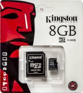 MicroSDHC. 8 Гб, интерфейс MicroSDHC