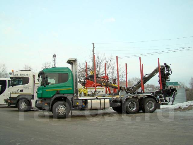 Scania P440CB. Продам Лесовоз Scania P440 CB6x4EHZ с гидроманипулятором 2017, 13 000 куб. см., 26 000 кг.