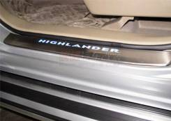Накладка на порог. Toyota Highlander